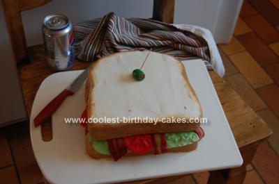 Homemade BLT Sandwich Birthday Cake