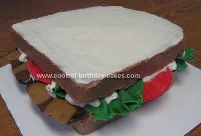 Homemade BLT with Mayo Sandwich Cake Design