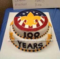 Homemade Blue And Gold 100 Years Boy Scouts Cake