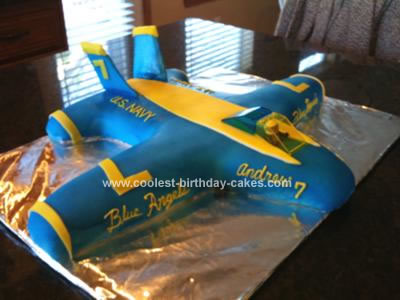 Homemade Blue Angels F18 Birthday Cake