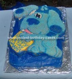 Homemade Blues Clues Birthday Cake