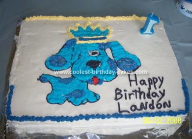 Homemade Blues Clues Birthday Cake