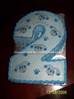 Homemade Blue's Clues Birthday Cake
