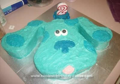 Homemade Blue's Clue's Birthday Cake Idea