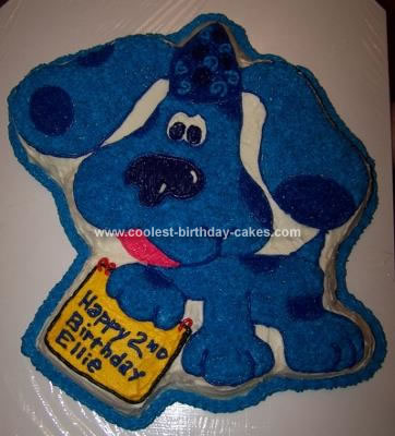 Cool Homemade Blues Clues Cake Using The Wilton Blues