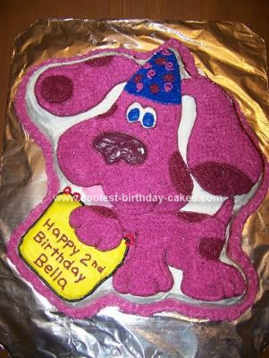 Cool Homemade Magenta Blues Clues Cake With The Wilton
