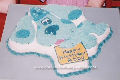 Homemade Blues Clues Cake