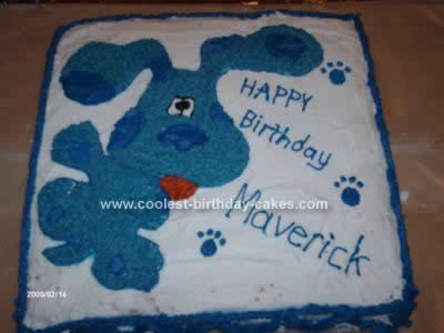 Homemade Blues Clues Cake Design