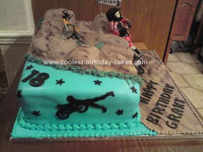 Homemade BMX Track Cake