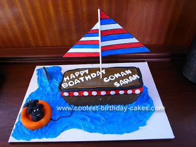 Tremendous Cool Homemade Boat Cake Birthday Cards Printable Trancafe Filternl
