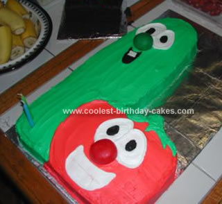 Homemade Bob And Larry Veggietales Cake