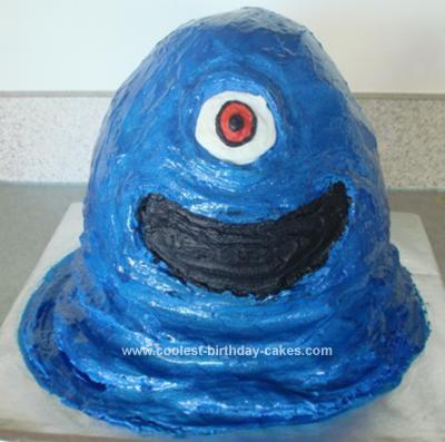 Homemade BOB Cake from Monsters vs Aliens