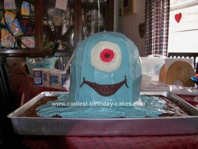 Homemade  BOB from Monsters vs. Aliens Cake
