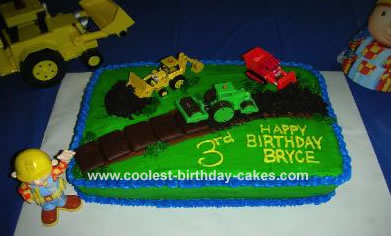 Groovy Coolest Homemade Bob The Builder Cakes Funny Birthday Cards Online Elaedamsfinfo