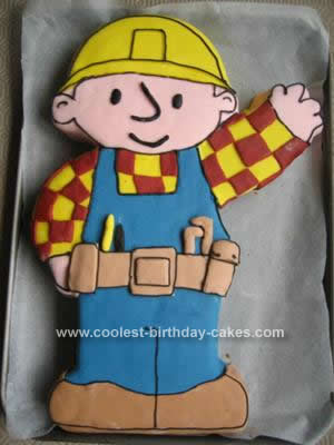 Homemade Bob the Builder Cake