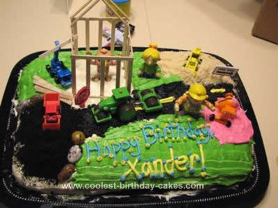 Homemade Bob the Builder Cake Design
