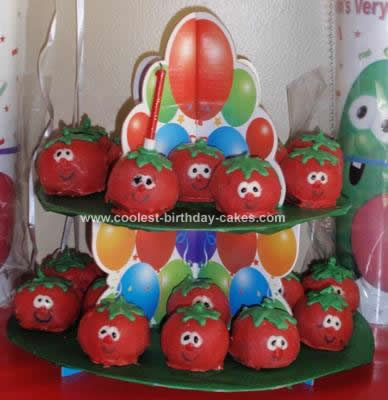 Homemade Bob The Tomato Balls Birthday Cake