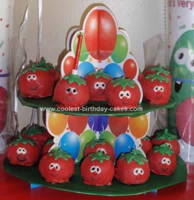 Homemade Bob The Tomato Balls Birthday Cake