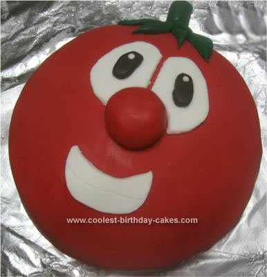 Homemade Bob the Tomato Cake