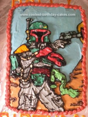 Homemade Boba Fett Cake
