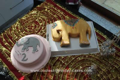 Homemade Bollywood Elephant Cake Extravaganza