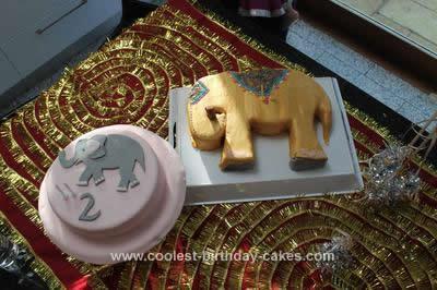 Homemade Bollywood Elephant Cake Extravaganza