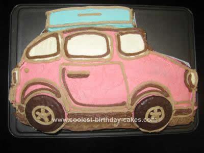 Homemade Bon Voyage Car Cake