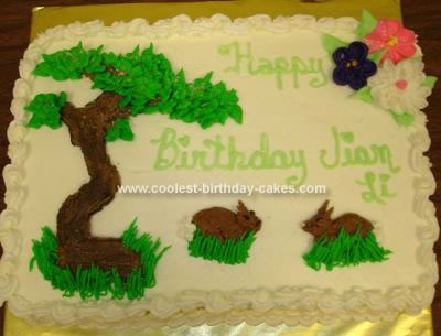 Homemade Bonsai Tree Cake
