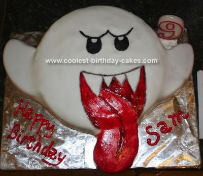 """""""Boo"""" (From the Mario video games) Cake"""