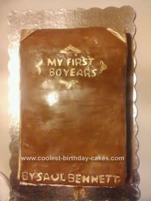 Homemade Book Cake