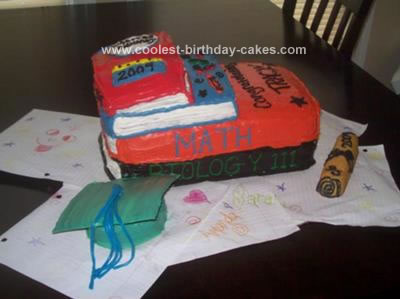 Homemade Book Graduation Cake