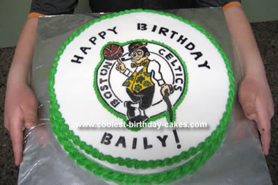 Homemade Boston Celtics Birthday Cake