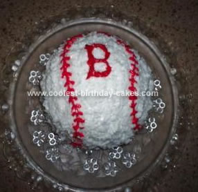 Homemade Boston Red Sox Cake