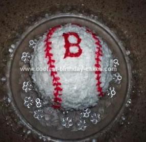 Homemade Boston Red Sox Cake