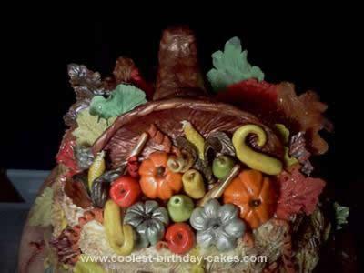 Homemade Bountiful Harvest Thanksgiving Cake