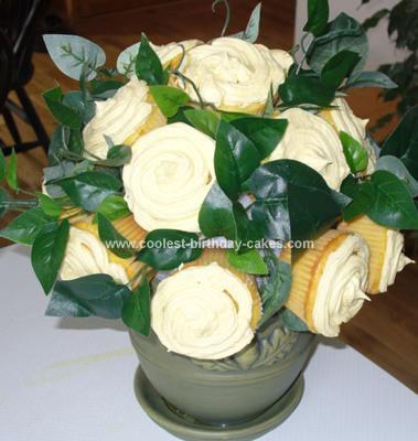 Homemade Bouquet Of Flowers Cake