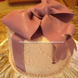 Homemade Bow Cake
