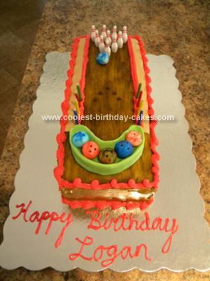 Homemade Bowling Alley Birthday Cake