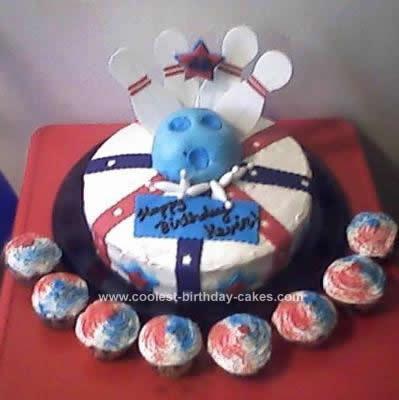 Homemade Bowling Birthday Cake