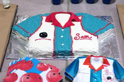 Homemade Bowling Shirt Cake