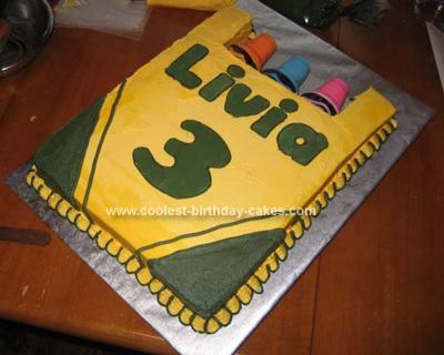 Homemade Box Of Crayons Birthday Cake