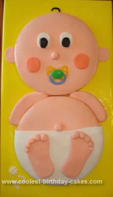 Homemade Boy or Girl Baby Shower Cake