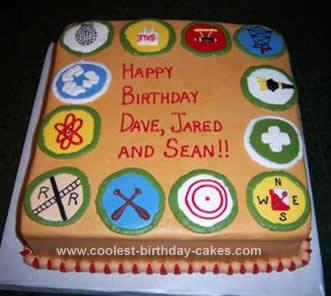 Homemade  Boy Scout Birthday Cake Design