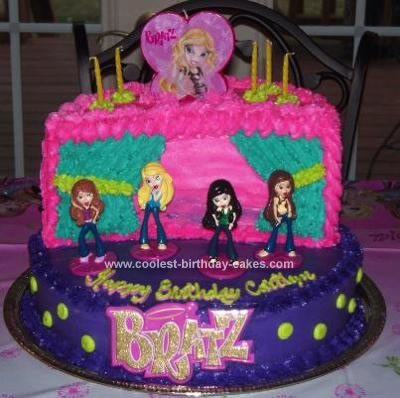 Homemade Bratz Rock Birthday Cake