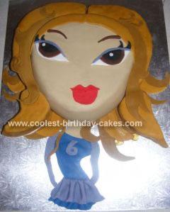Homemade Bratz Yasmin Birthday Cake