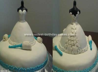 coolest bridal shower dress cake