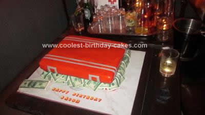 Homemade Briefcase Full of Money  Cake