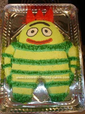 Homemade  Brobee Birthday Cake