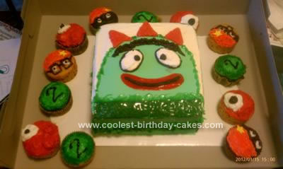 Homemade Brobee from Yo Gabba Gabba 2nd Birthday Cake