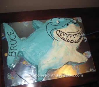 Homemade Bruce the Shark Cake
